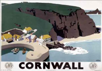 Cornwall, England, Vintage GWR Travel Poster by Frank Newbould